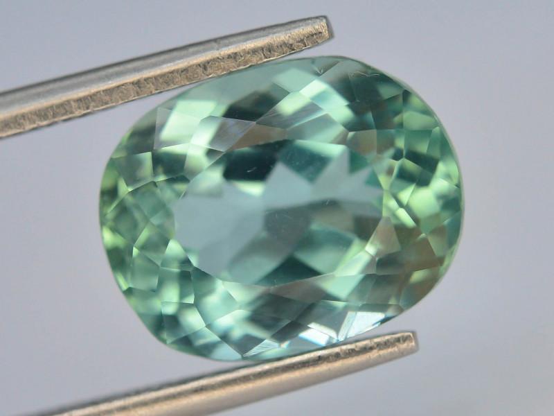 5.70 Ct Green Spodumene Gemstone From Afghanistan~ G AQ