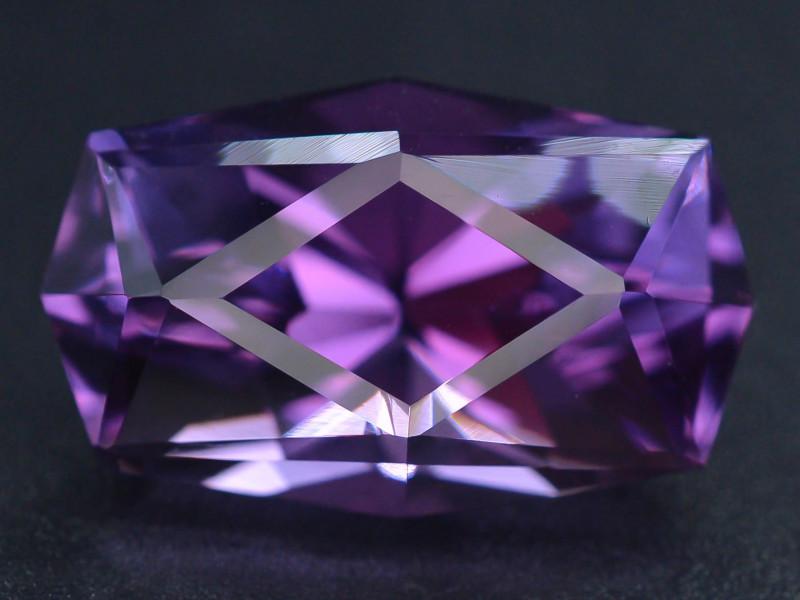 17.0 CT Natural Gorgeous Color Fancy Cut Amethyst ~  H