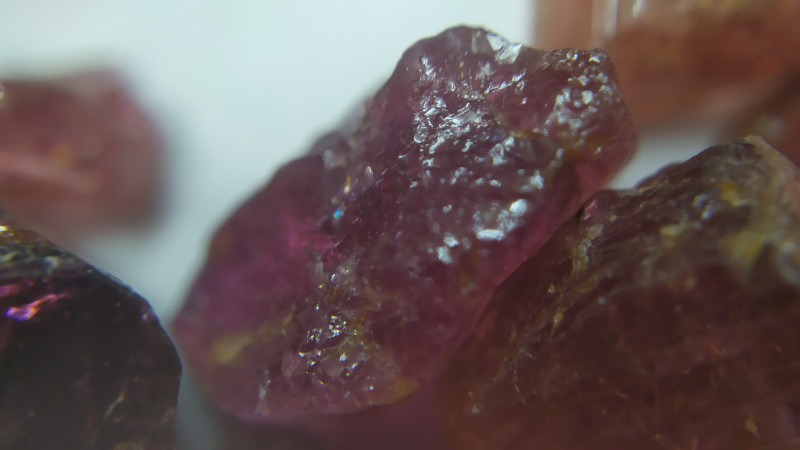 570Ct Natural Rubellite Tourmaline Rough Parcel