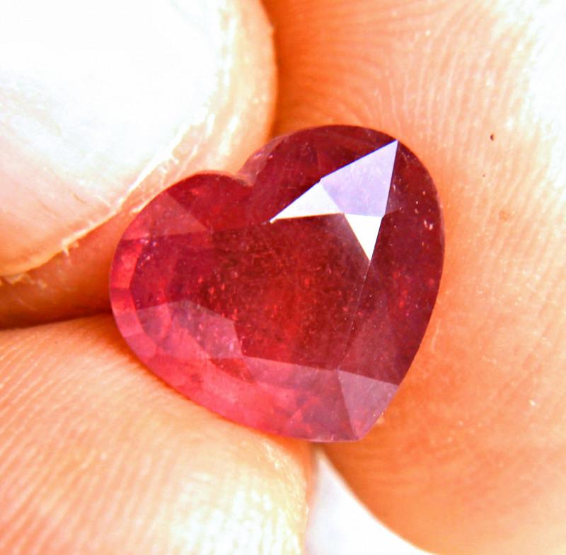 6.56 Carat Fiery Ruby Heart - Cool