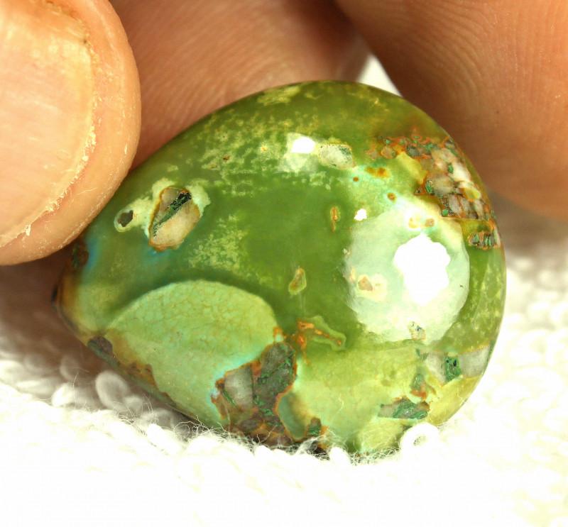 28.5 Carat Green Himalayan Turquoise Pendant Stone - Gorgeous