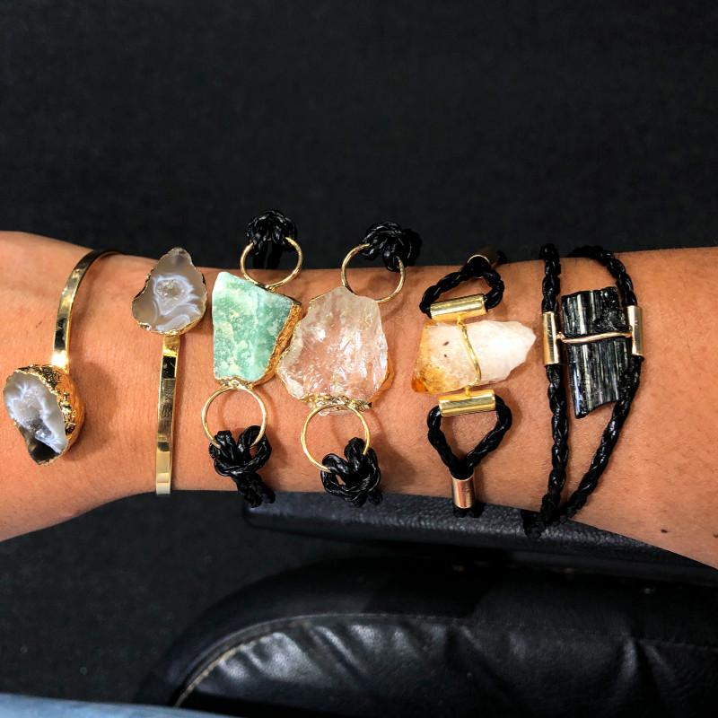 3 Kilo Amethyst Crystal Parcel 5 x Raw Rock Gemstones Bracelet - BR 1155