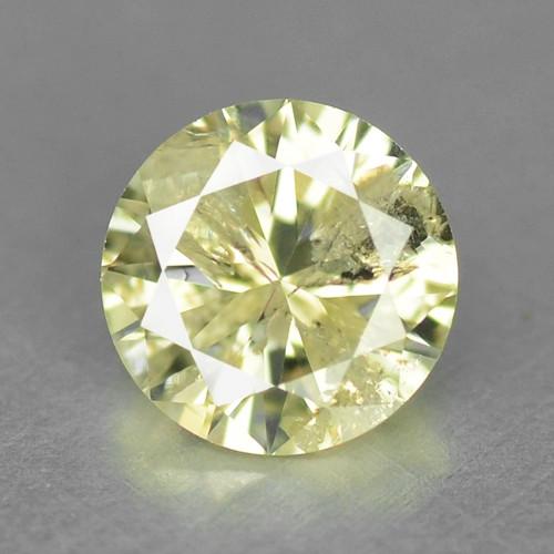0.34 UNTREATED GREENISH YELLOW NATURAL LOOSE DIAMOND