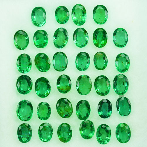 5.10Cts Natural Colombian Emerald Oval 4 X 3mm Parcel