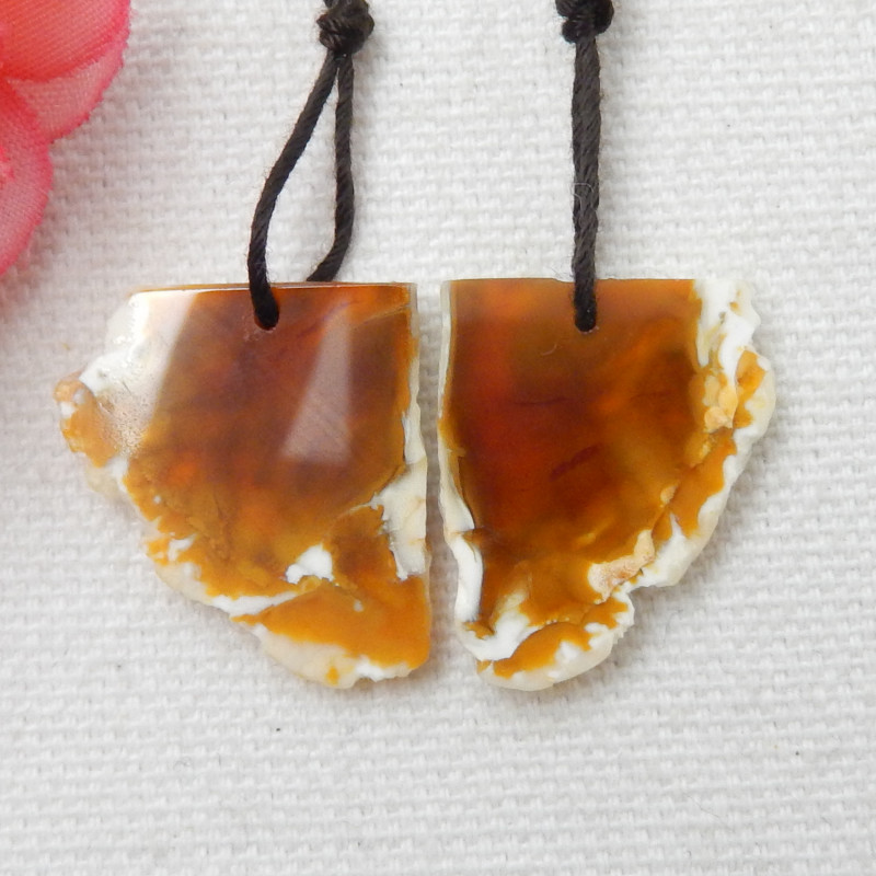 30 Ct Natural Nugget  Agate Earring Beads, Earring Beads E288