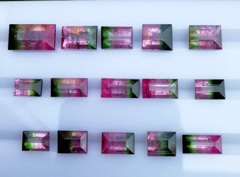 41.90 cts  Bi Color Tourmaline gemstones