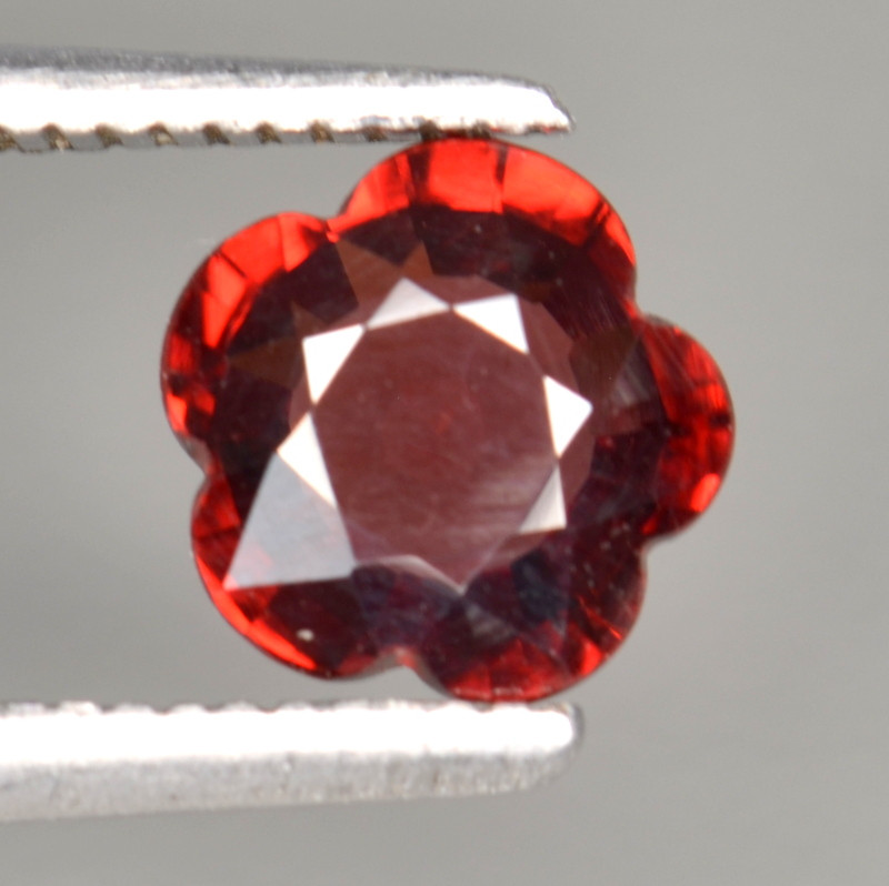 1.26 Cts Natural Cherry Red Garnet Awesome Color ~ Africa FG12