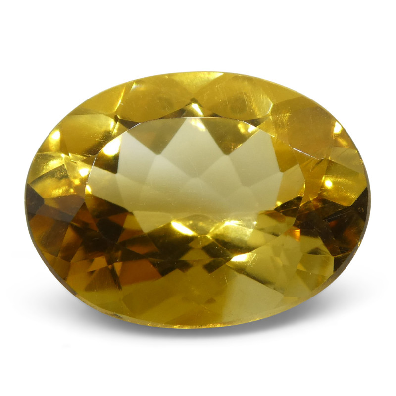 5.87 ct Oval Citrine GIA Certified