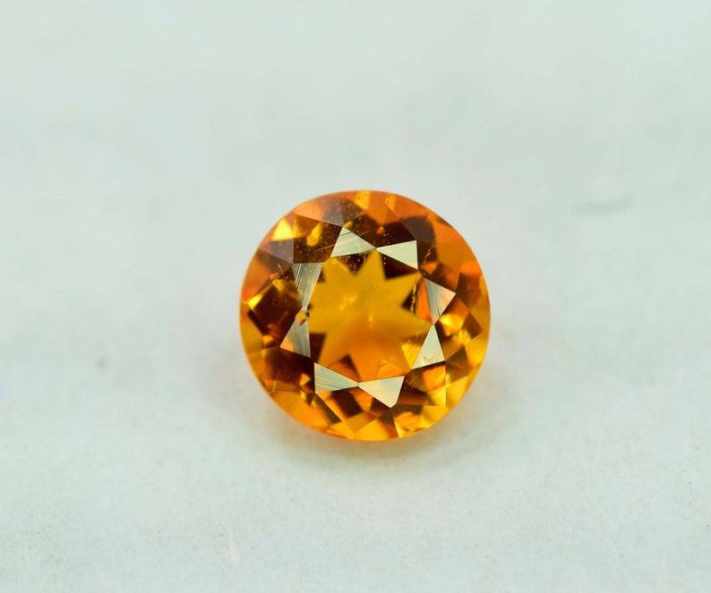 0.55 Carat AAA Grade MariGold Color Extremely Rarest Chlinohumite Gemstone