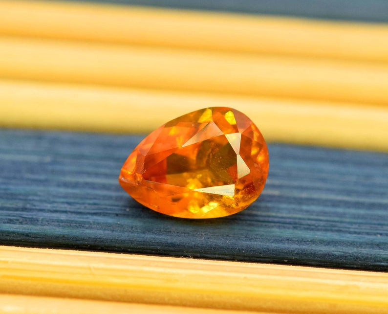 0.80 Carat AAA Grade MariGold Color Extremely Rarest Chlinohumite Gemstone