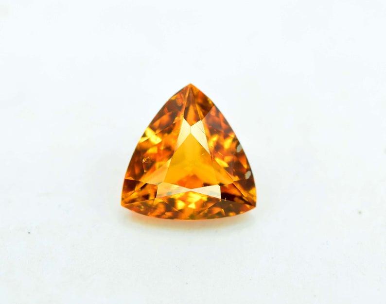 0.85 Carat AAA Grade MariGold Color Extremely Rarest Chlinohumite Gemstone