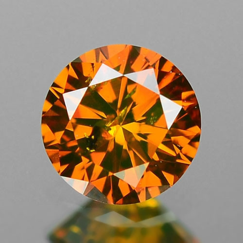 0.18 Cts SPARKLING RARE FANCY CONIC BROWN COLOR NATURAL DIAMOND