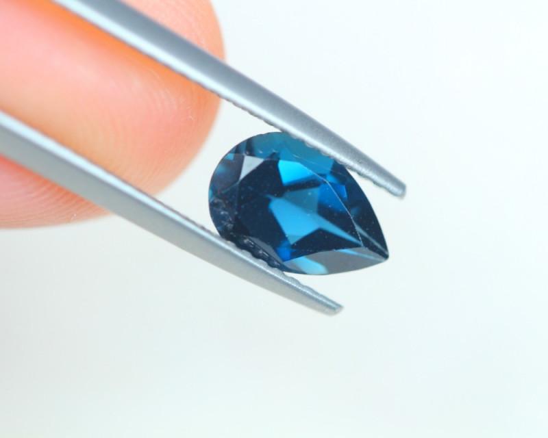 1.43Ct Natural London Blue Topaz Pear Cut Lot LZB538