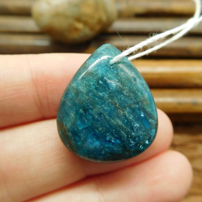 Blue apatite pendant bead (G1333)