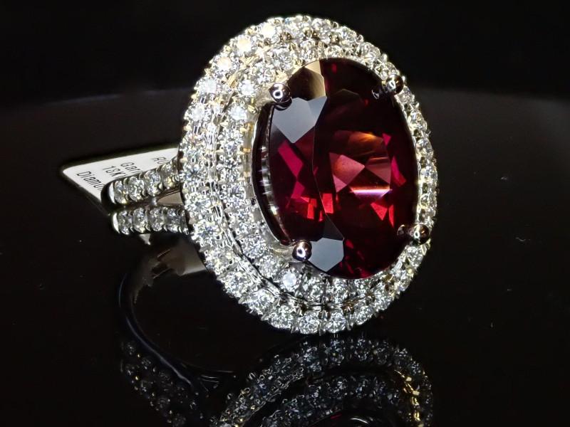 6.91ct Garnet Ring