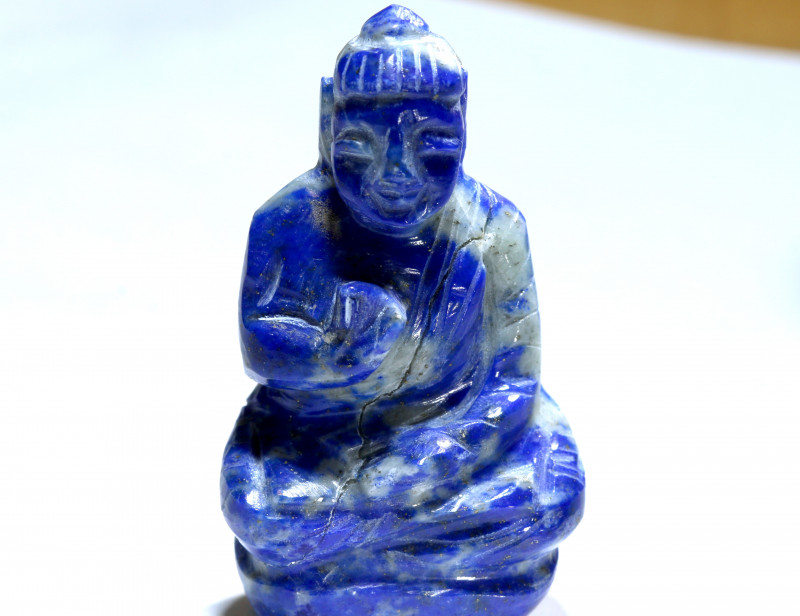 97.85 cts Buddha Carving Lapis Lazuli LT-930