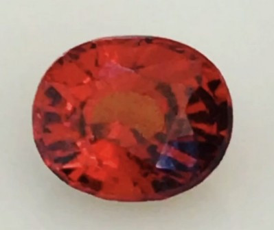 Pretty Bright Cinnamon Red Hessonite Garnet - Sri Lanka H697