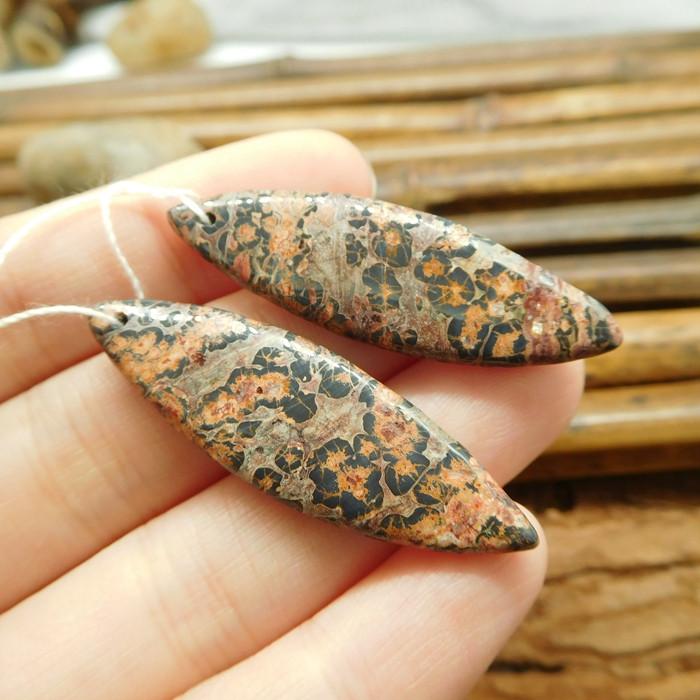 Leopard skin pair earring gemstone accessories (G1355)
