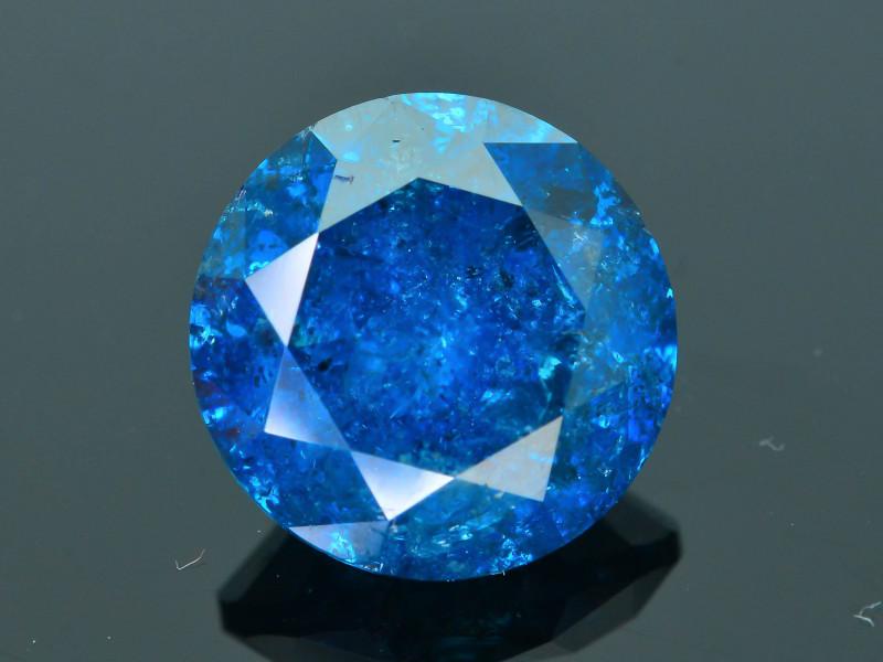AIG Certified 3.90 ct I1 Clarity Blue Diamond SKU-17