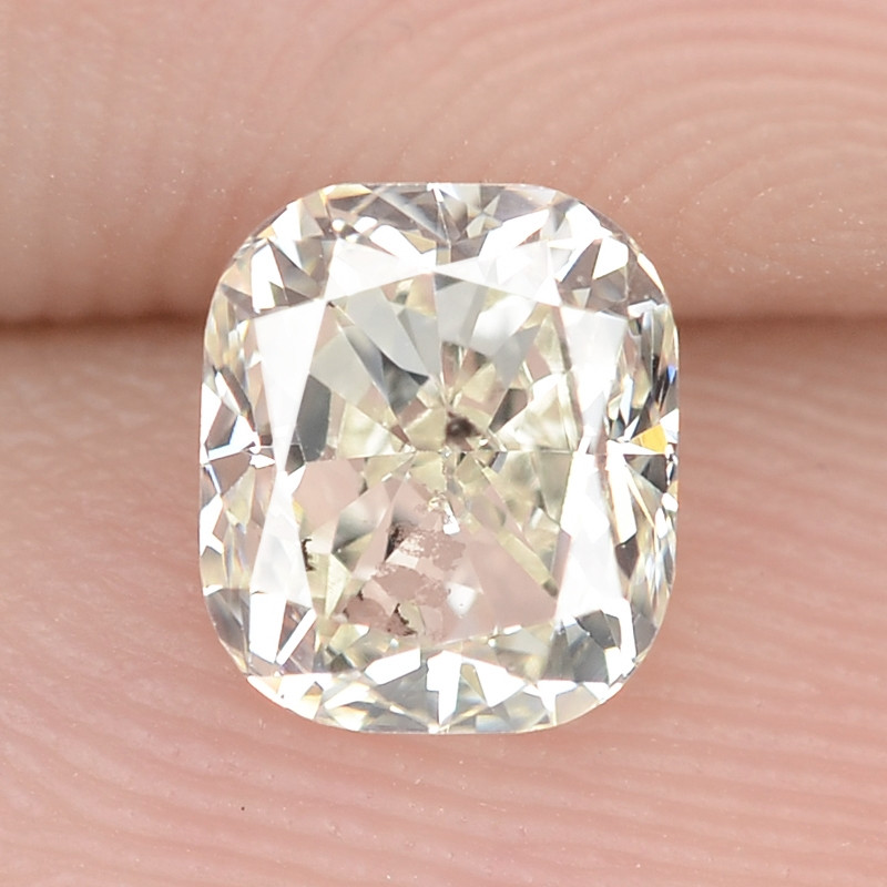 0.78 Cts Excellent Sparkling Untreated Natural White