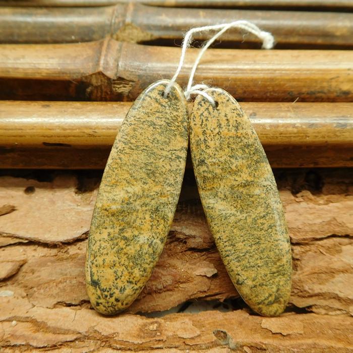 Chouhua jasper gemstone earring bead (G1375)