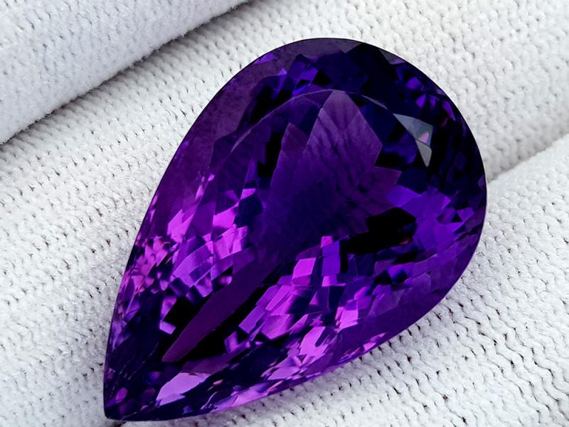 42Ct Natural Amethyst Gemstones IGCam65