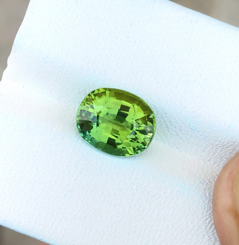 2.70 Ct Natural Green Transparent Tourmaline Ring Size Gemstone