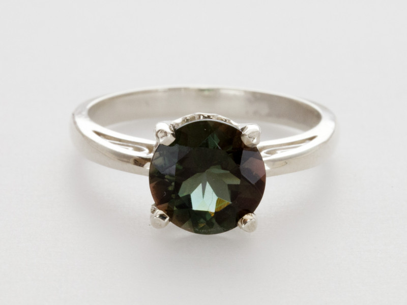 1.7ct Dichroic Sunstone, Continuum Sterling Silver Ring (S2226R)