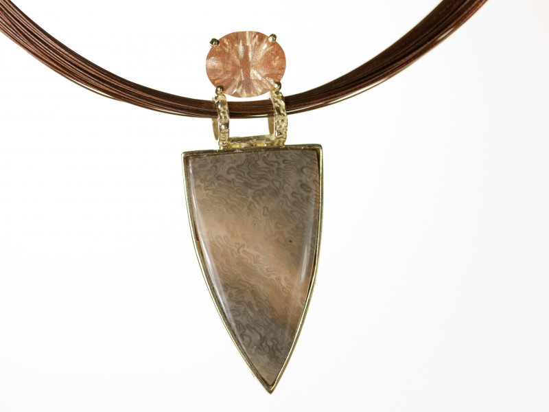 Karla Proud designed Oregon Sunstone with Jasper Pendant (S1967KPP)