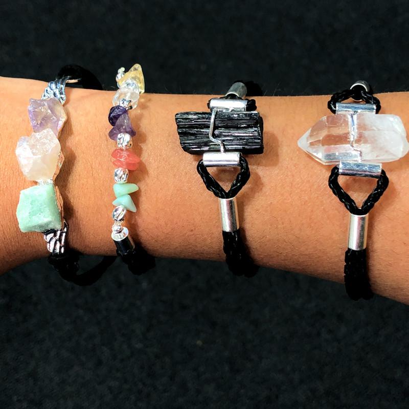 4 x Raw Rock & Funny Gemstones Bracelets - BR 1215