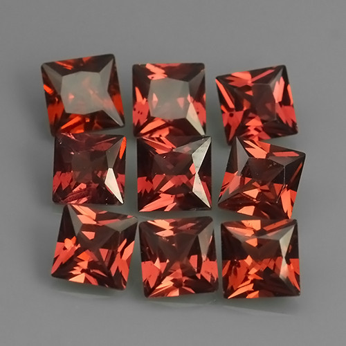 6.60 Cts_Marvelous_Electric Red_Africa_Sizzling_Rhodolite_~