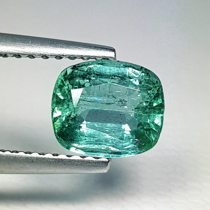 1.18 ct  IGI Certified Gem Top Grade Cushion Cut Zambian Emerald