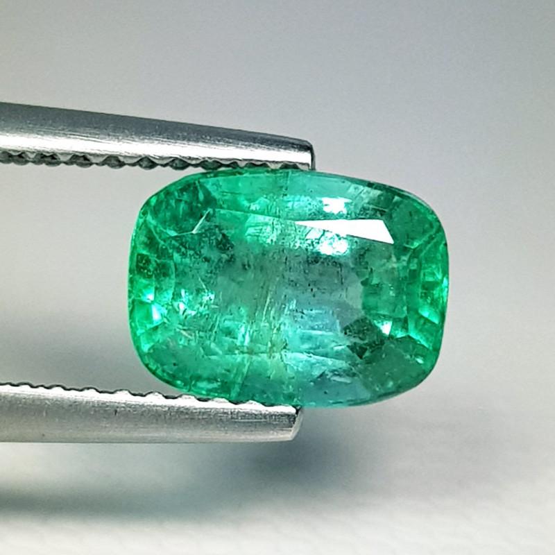 1.67 ct  IGI Certified Gem Top Grade Rectangular Cut Zambian Emerald