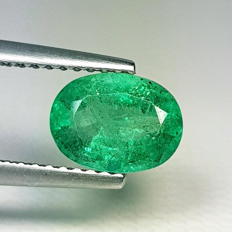 1.54 ct  IGI Certified Gem Top Grade Oval Cut Zambian Emerald