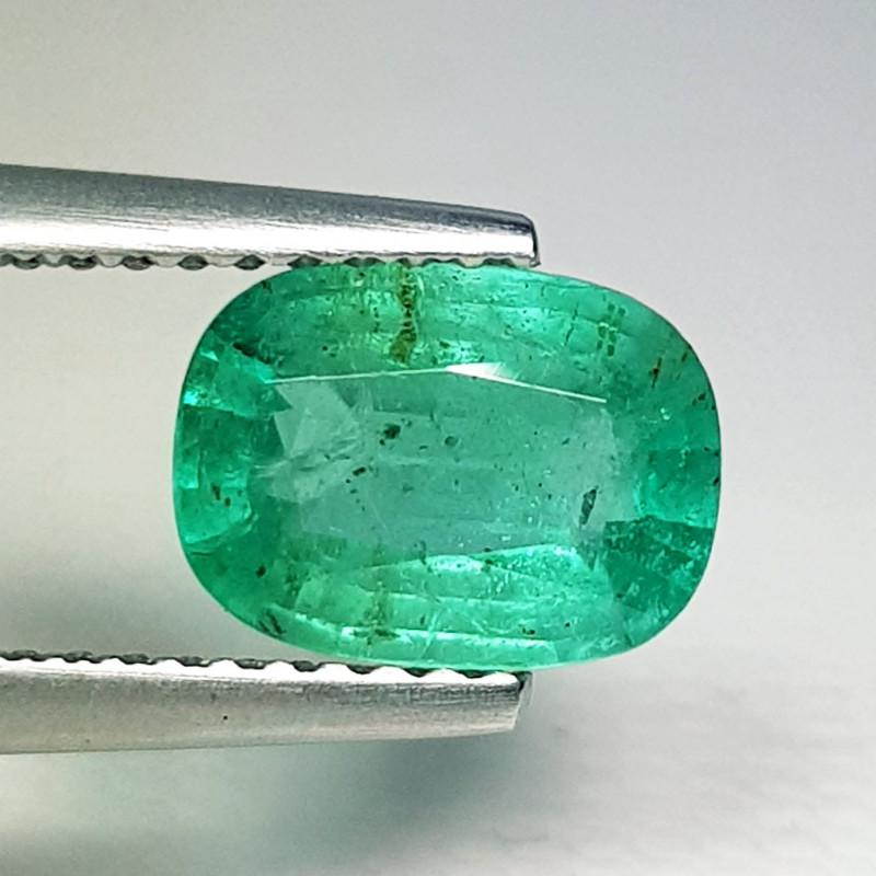 1.30 ct  IGI Certified Gem Top quality Rectangle Cushion Cut  Emerald