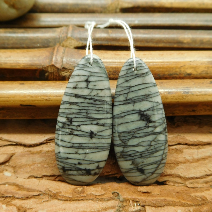 Natural picasso jasper matching gemstone bead (G1535)
