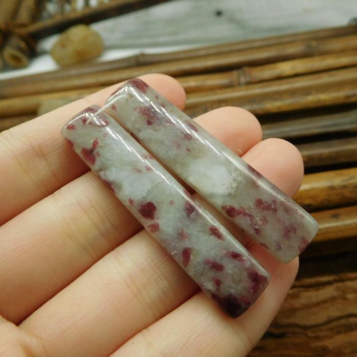 Natural tourmaline gemstone pair jewelry making (G1550)