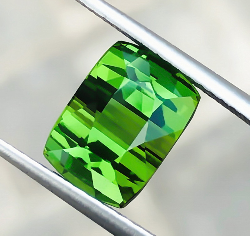 4.55 Ct Natural Greenish Transparent Ring Size Tourmaline Gemstone