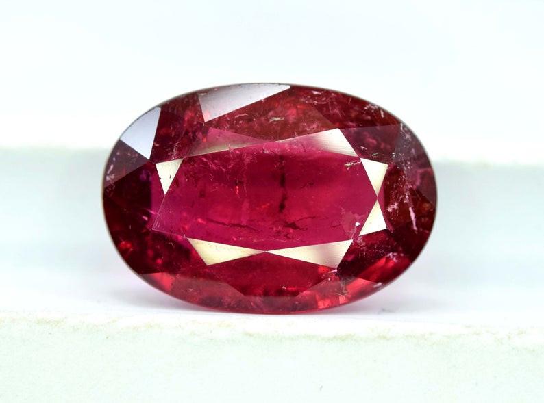 11.50 Carats Oval Cut Dark Pinkish Rose Color rubelite tourmaline Loose gem