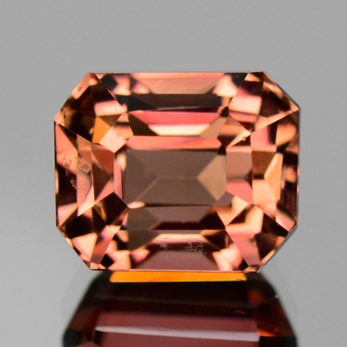 3.00 Cts UNHEATED ORANGISH PINK COLOR NATURAL TOURMALINE GEMSTONE