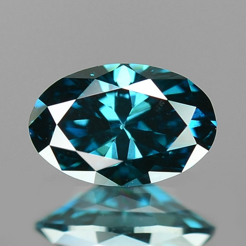 0.26 Cts Sparkling Very Rare Fancy Intense Blue Color Natural Diamond