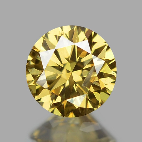 0.22  UNTREATED FANCY INTENSE YELLOW NATURAL LOOSE DIAMOND
