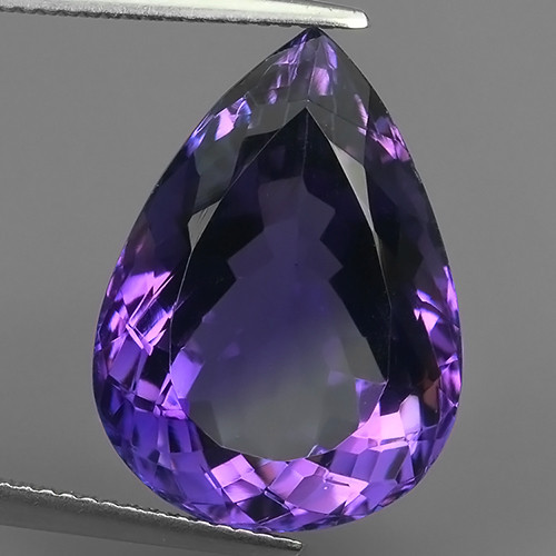 17.25 CTS MAGNIFICENT NATURAL PURPLE-VIOLET AMETHYST NICE OVAL~CUT