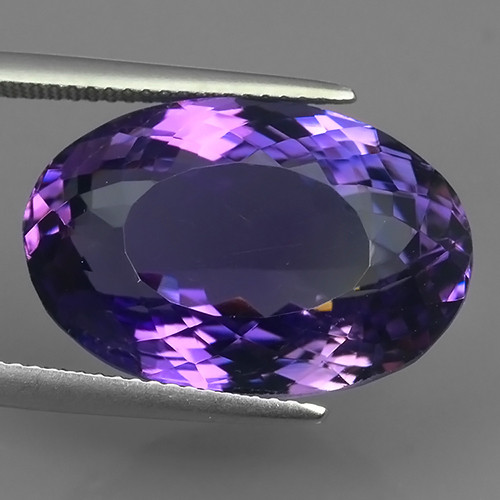 21.50 Cts Natural Purple Amethyst Exquisit Oval Cut Glister NR!!!