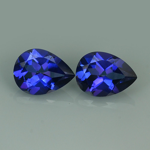 3.6 CTS WONDERFUL TANZANITE COLOR COTED TOPAZ PEAR~EXCELLENT!!
