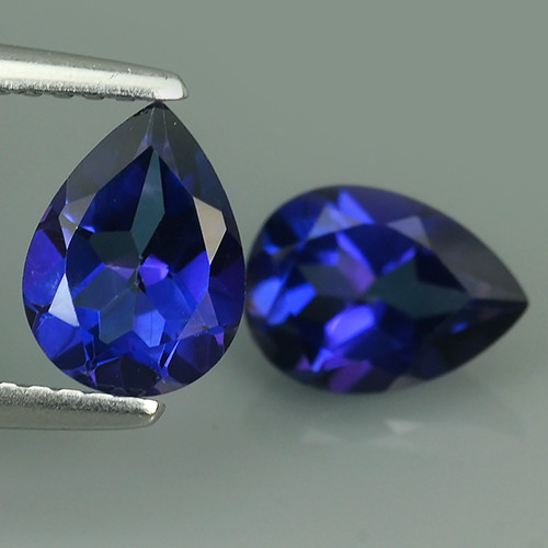 3.25  CTS WONDERFUL TANZANITE COLOR COTED TOPAZ PEAR~EXCELLENT!!