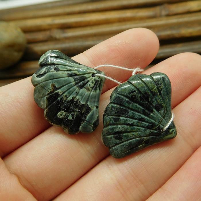 Camouflage jasper gemstone making jewelry beads (G1749)