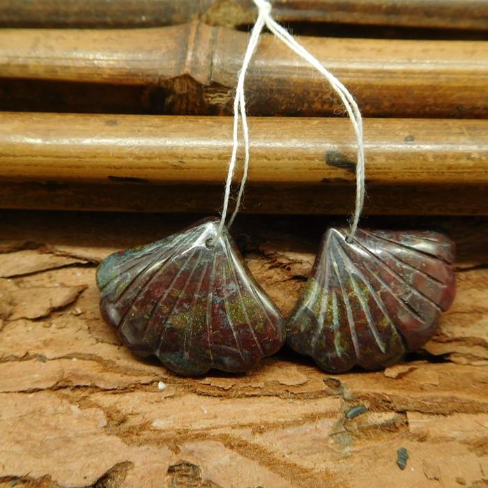 Dragon bloodstone gemstone natural beads (G1750)