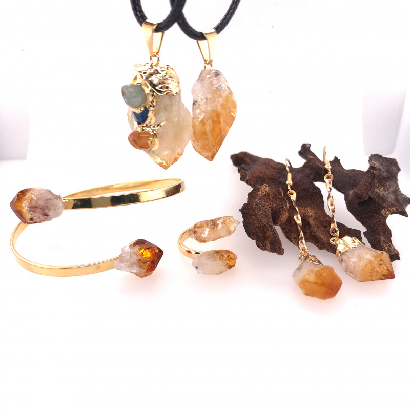 Gemstones Citrine Set - Citrine Lovers 5 pieces - BR 1302