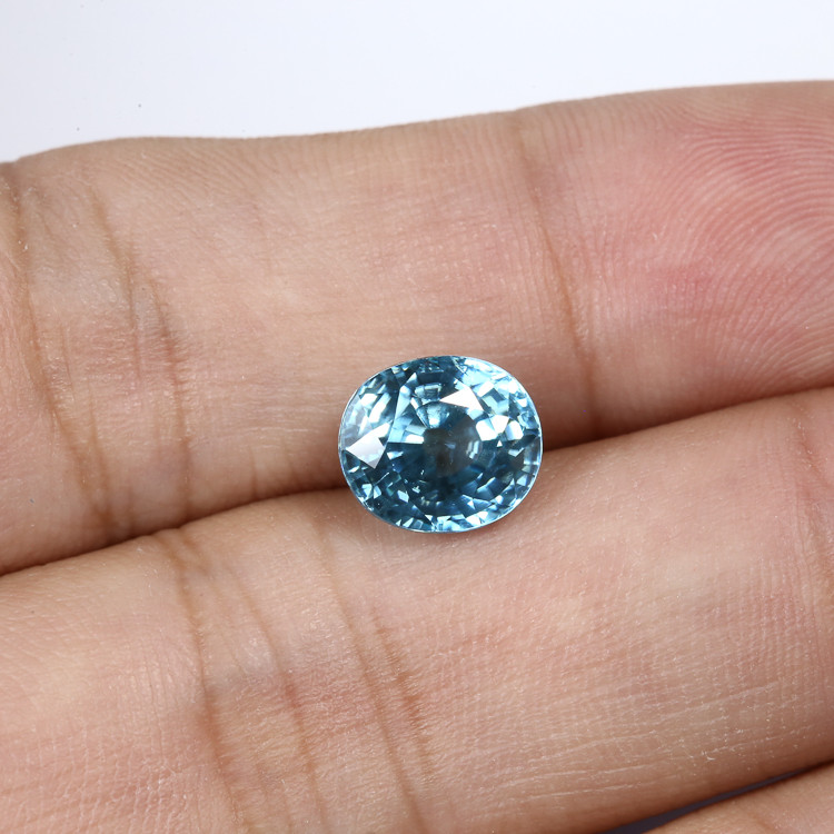 4.77ct Lab Certified Blue Zircon